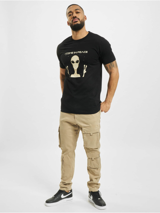 Mister Tee T-shirt I Come In Peace nero