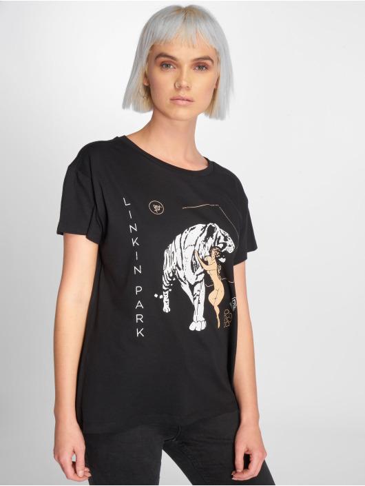 Mister Tee T-Shirt Ladies Linkin Park Tiger Box noir