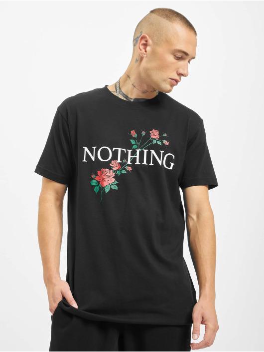 Mister Tee T-Shirt Nothing Rose noir