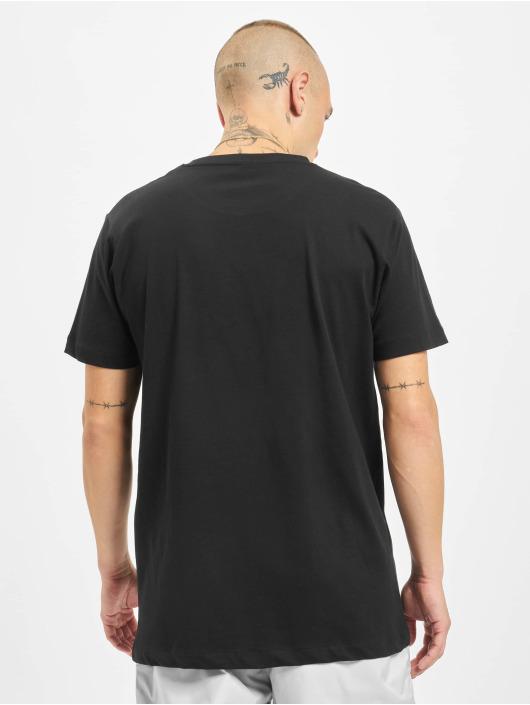 Mister Tee T-Shirt Nasa Logo Embroidery noir