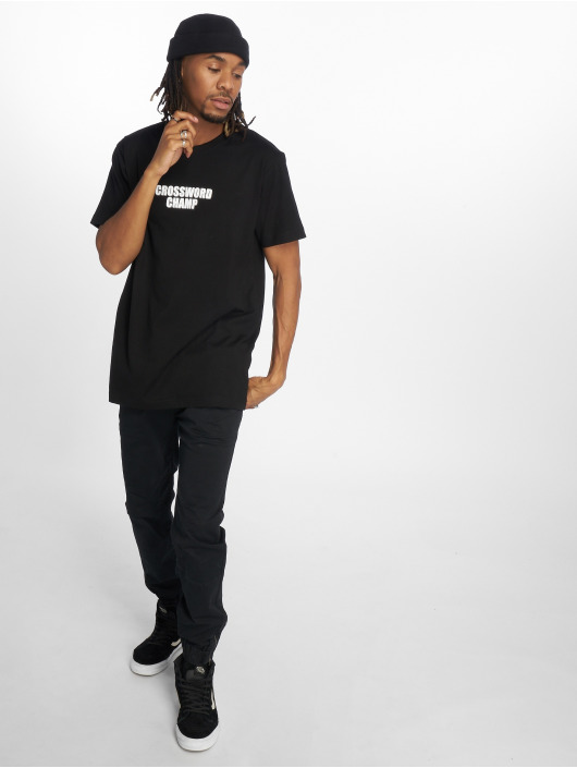 Mister Tee T-Shirt Crossword Champ noir
