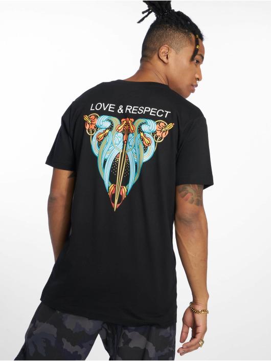 Mister Tee T-Shirt Love & Respect noir