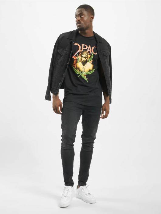 Mister Tee T-Shirt Tupac Fireleaf noir