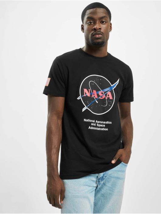 Mister Tee T-Shirt Nasa Retro Insignia Logo noir