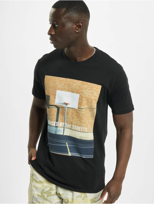 Mister Tee T-Shirt Raised By The Streets noir