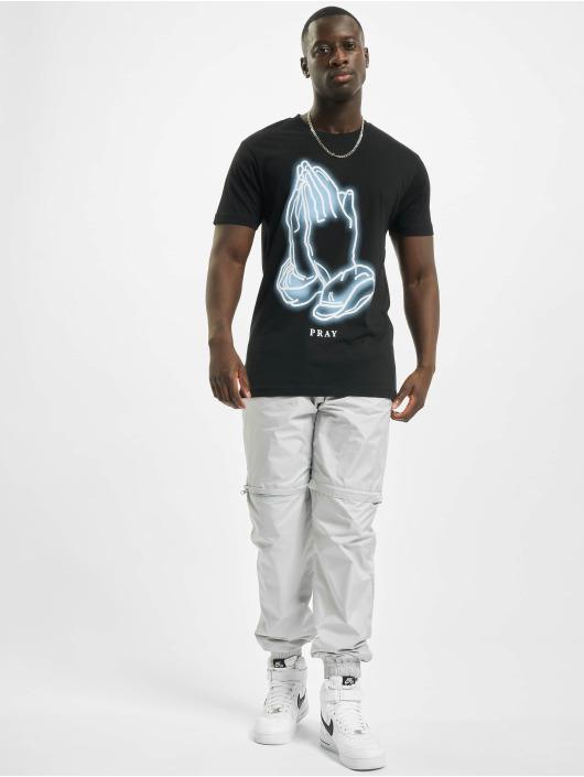 Mister Tee T-Shirt Pray Glow noir