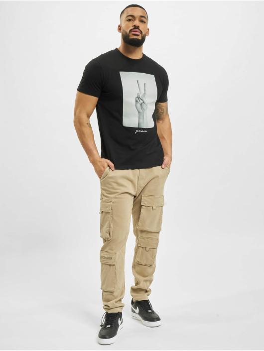 Mister Tee T-Shirt Peace Sign noir