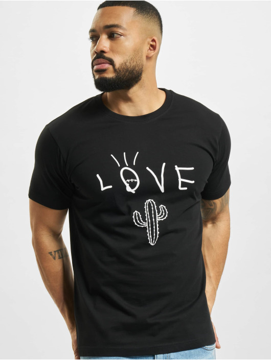 Mister Tee T-Shirt Love Cactus noir
