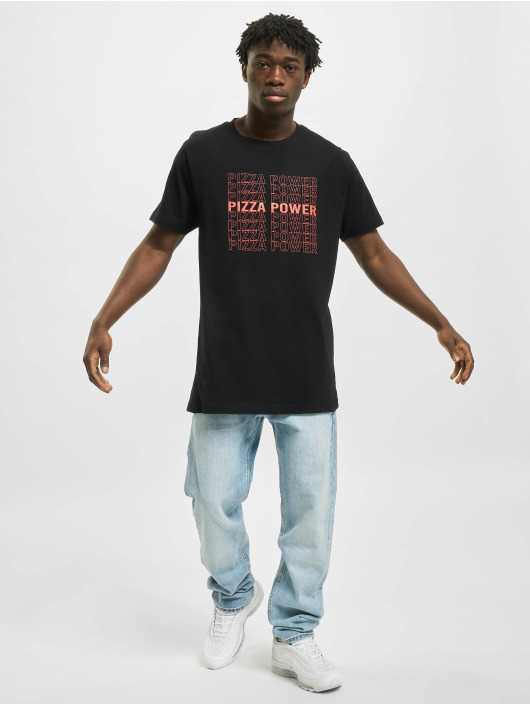 Mister Tee T-Shirt Pizza Power noir