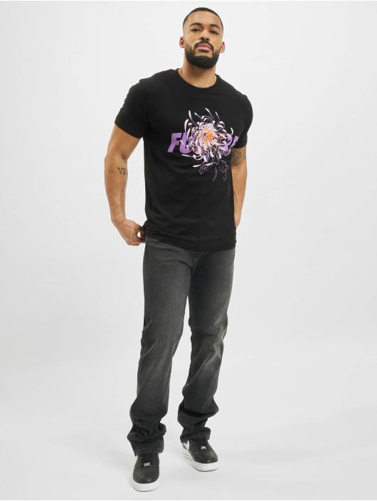Mister Tee T-Shirt Future Flower noir