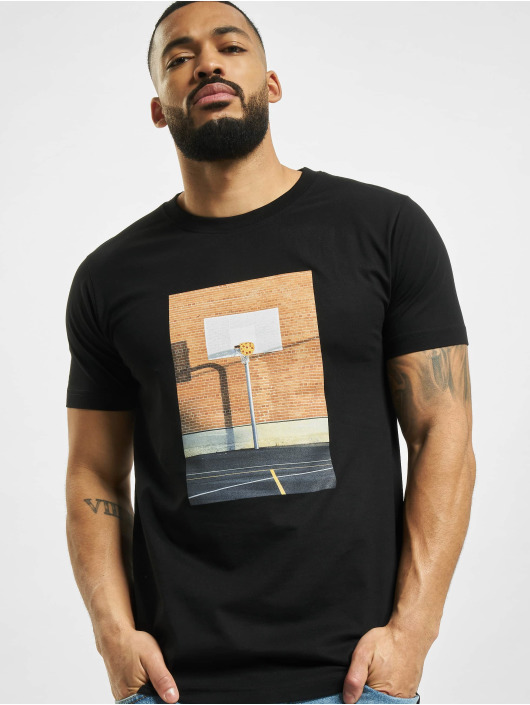 Mister Tee T-Shirt Pizza Basketball Court noir