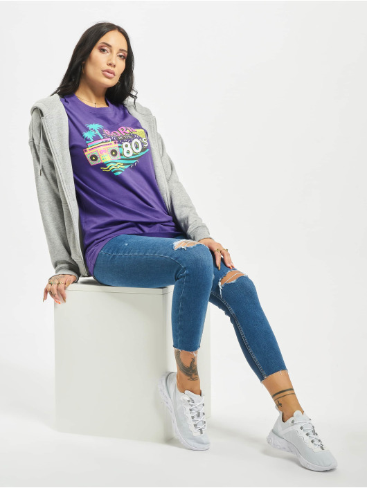 Mister Tee T-Shirt Born In The 80s purple