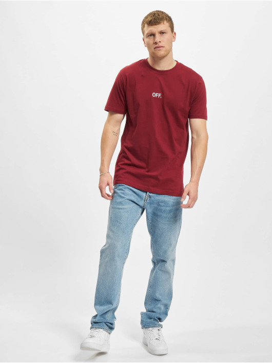 Mister Tee T-Shirt Off Emb red