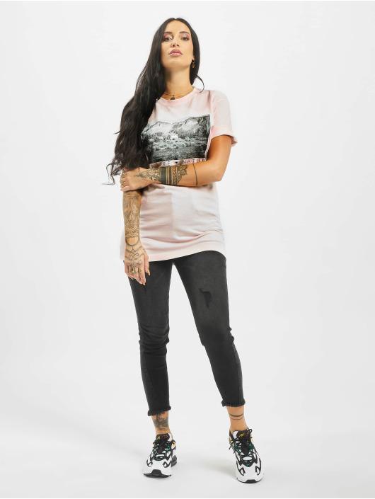 Mister Tee T-Shirt Love Nature rosa