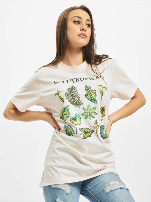 Mister Tee T-Shirt Ladies Bali Tropical rosa