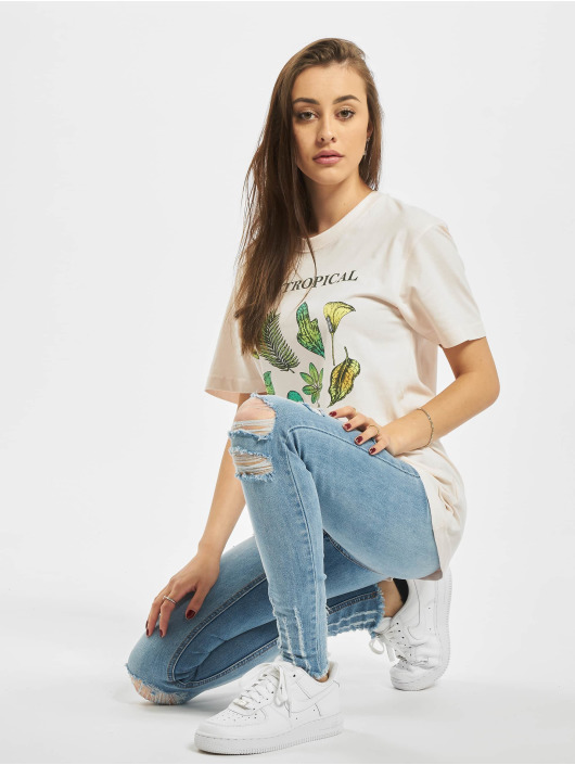 Mister Tee T-Shirt Ladies Bali Tropical rose