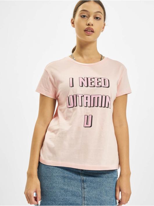 Mister Tee T-Shirt Vitamin U Box rose