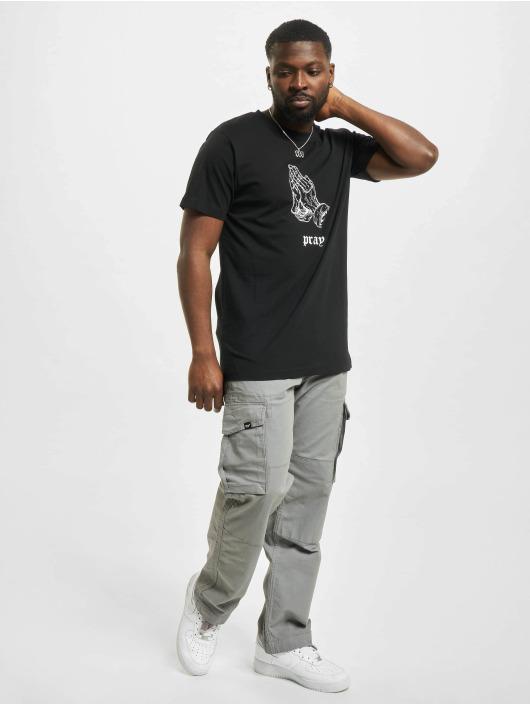 Mister Tee T-Shirt Dark Pray schwarz