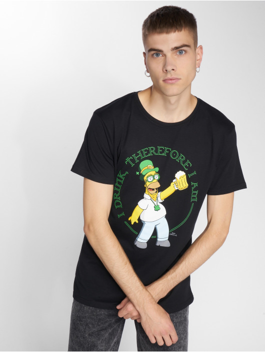 Mister Tee T-Shirt Simpsons Homer Drink schwarz