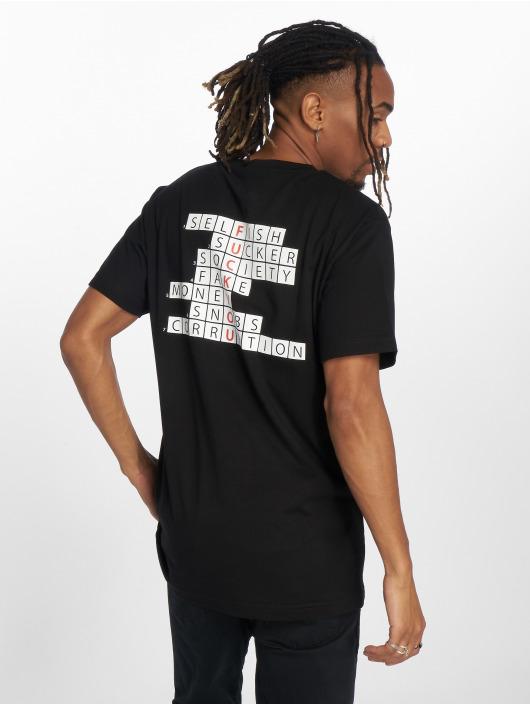 Mister Tee T-Shirt Crossword Champ schwarz