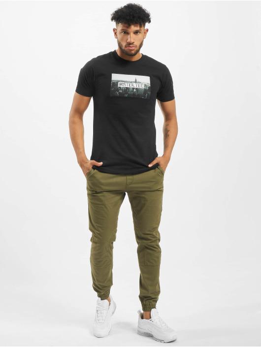 Mister Tee T-Shirt Skyline schwarz