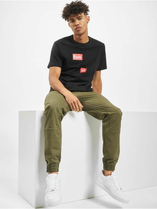 Mister Tee T-Shirt Fuck Off Split schwarz