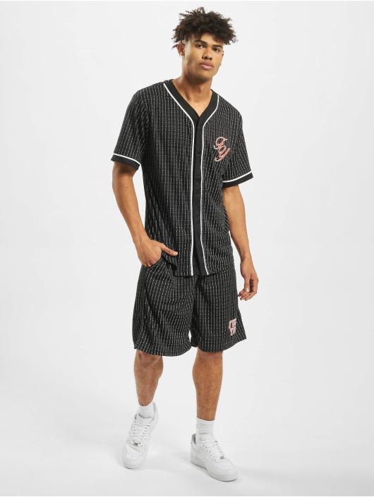 Mister Tee T-Shirt Fuckyou Baseball Mesh schwarz