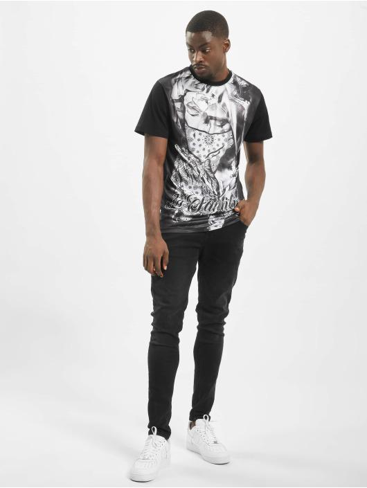 Mister Tee T-Shirt La Familia Sublimation schwarz