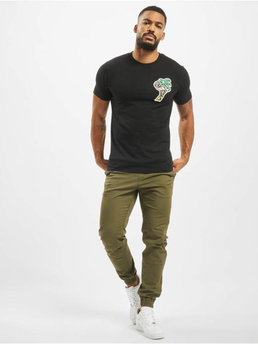Mister Tee T-Shirt Flamingo schwarz