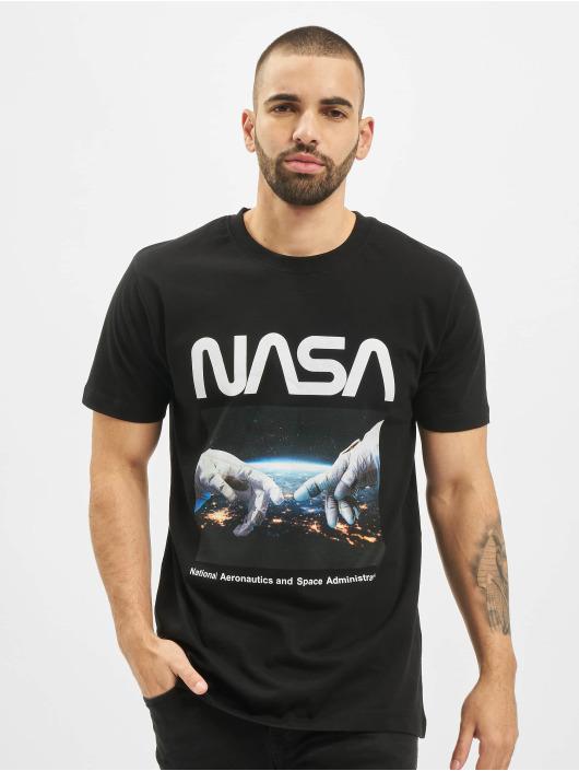 Mister Tee T-Shirt Nasa Astronaut Hands schwarz