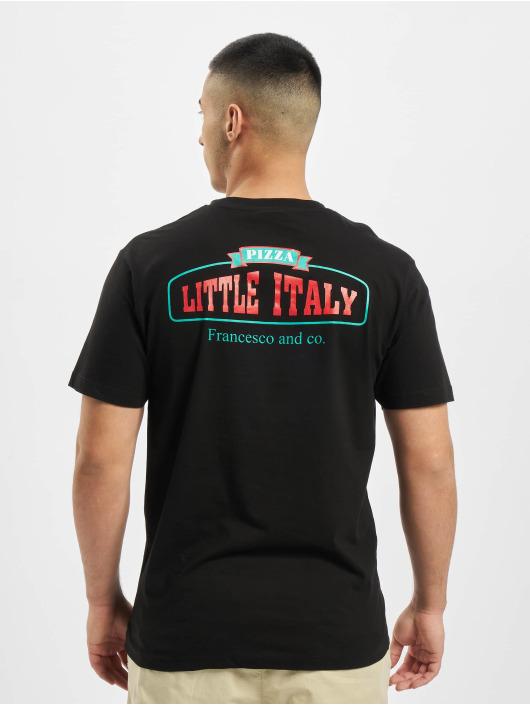 Mister Tee T-Shirt Pizza Francesco schwarz