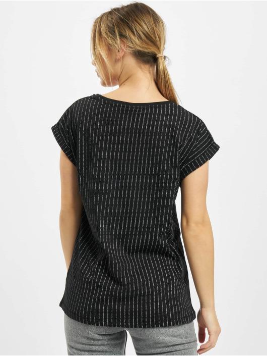 Mister Tee T-Shirt Ladies Fuckyou Turtle Extended Shoulder schwarz