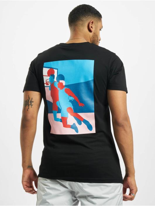 Mister Tee T-Shirt Colored Basketball Player schwarz