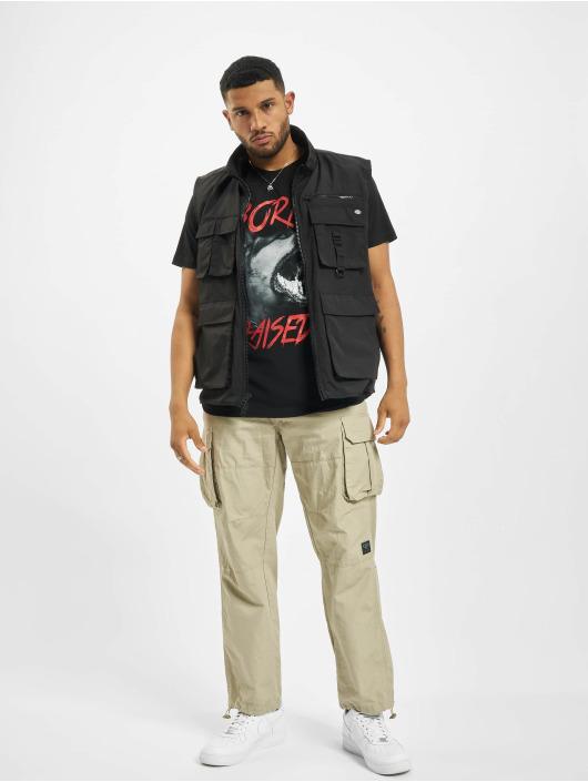 Mister Tee T-Shirt Born & Raised schwarz