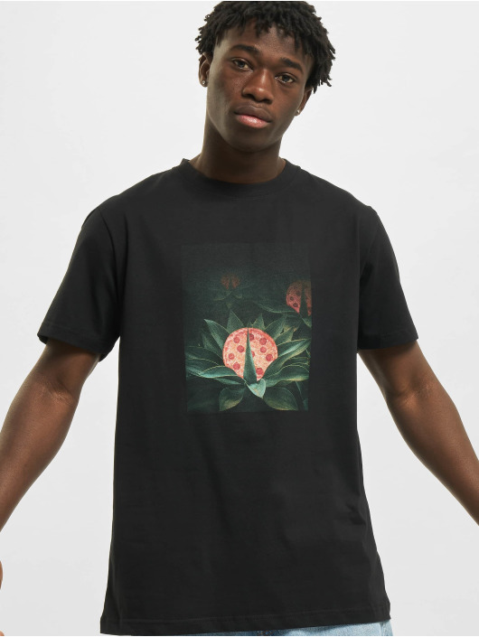 Mister Tee T-Shirt Pizza Plant schwarz