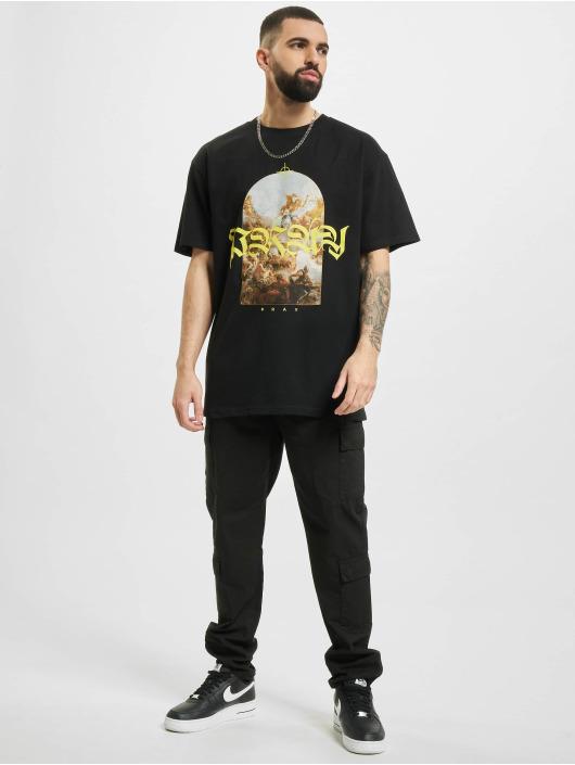 Mister Tee T-Shirt Pray Painting Oversize schwarz