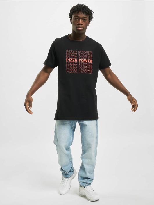 Mister Tee T-Shirt Pizza Power schwarz