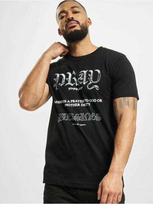 Mister Tee T-Shirt Pray Variation schwarz