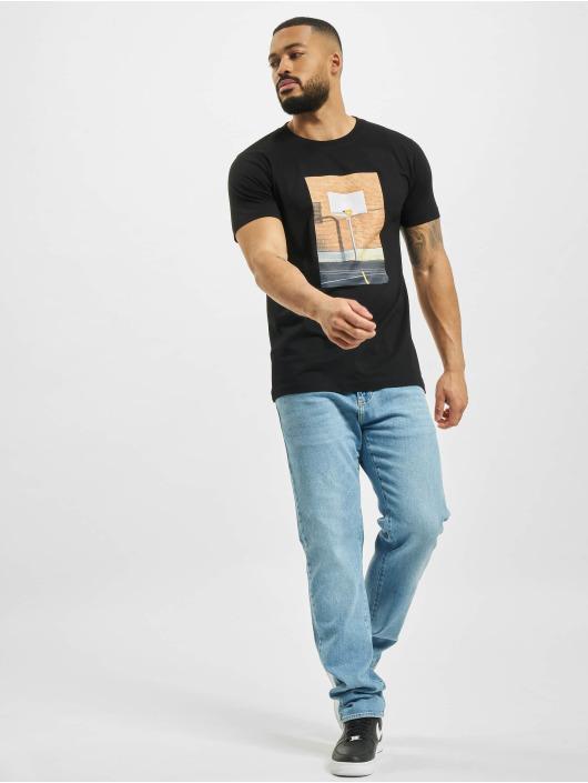 Mister Tee T-Shirt Pizza Basketball Court schwarz