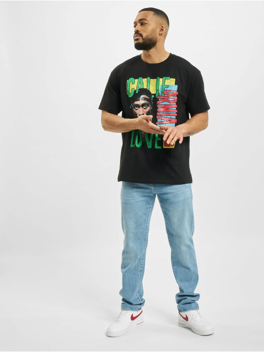 Mister Tee T-Shirt Tupac California Love Retro Oversize schwarz