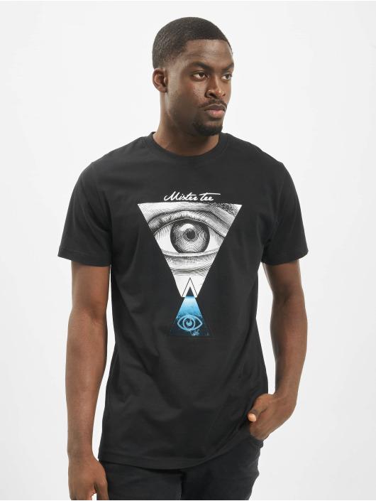 Mister Tee T-shirt Eyes svart