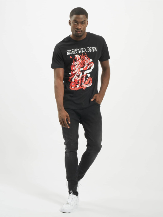 Mister Tee T-shirt Dragon svart