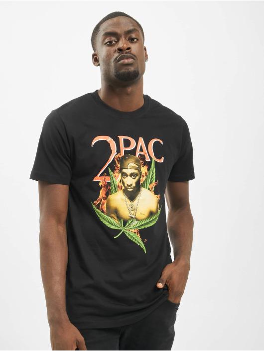 Mister Tee T-shirt Tupac Fireleaf svart