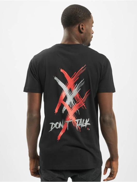 Mister Tee T-shirt Silence svart