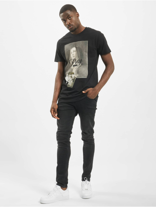 Mister Tee T-shirt Pray Dollar svart