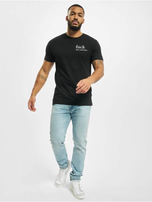 Mister Tee T-shirt Fck svart