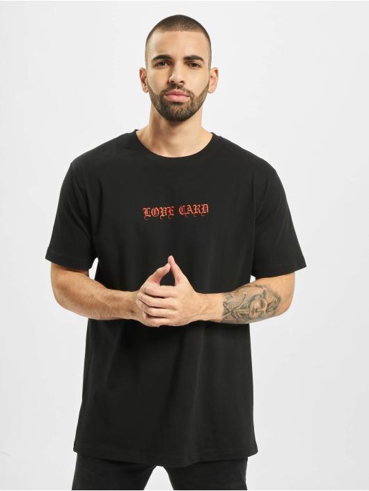 Mister Tee T-shirt Love Card svart