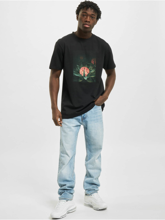 Mister Tee T-shirt Pizza Plant svart