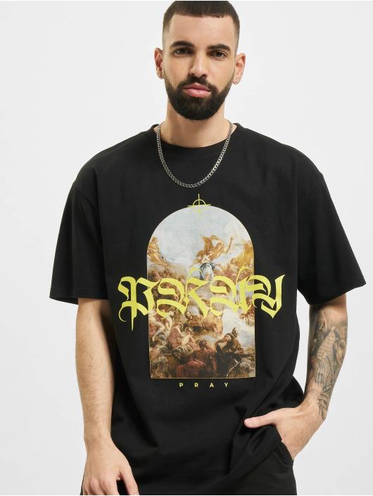 Mister Tee T-shirt Pray Painting Oversize svart