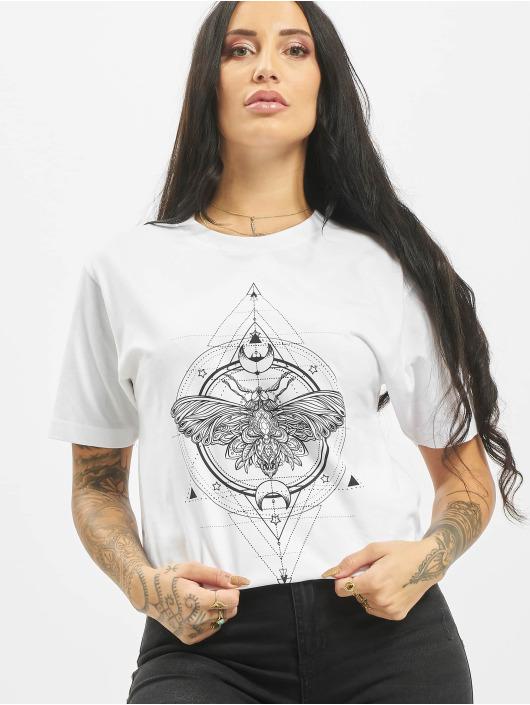 Mister Tee T-shirt Moth vit